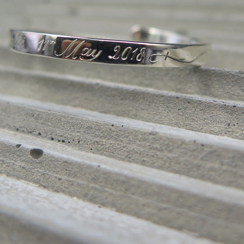 esther weinberg jewellery sterling silver recycled christening cuff