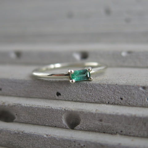 esther weinberg jewellery - emerald and white gold