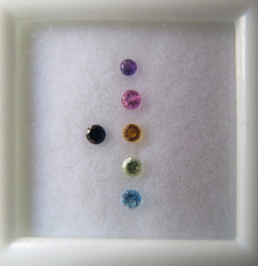 Cufflink with gemstones