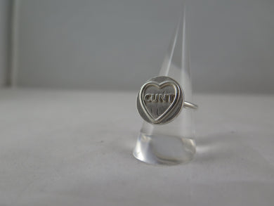 Cunt - Candy Heart Ring - Size - O 1/2 - Studio Sale