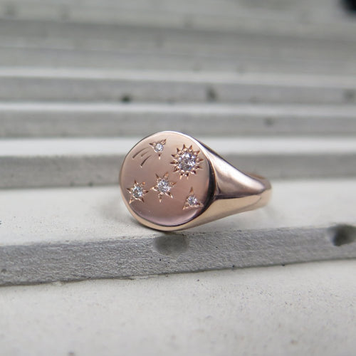 Shooting Star Signet Ring