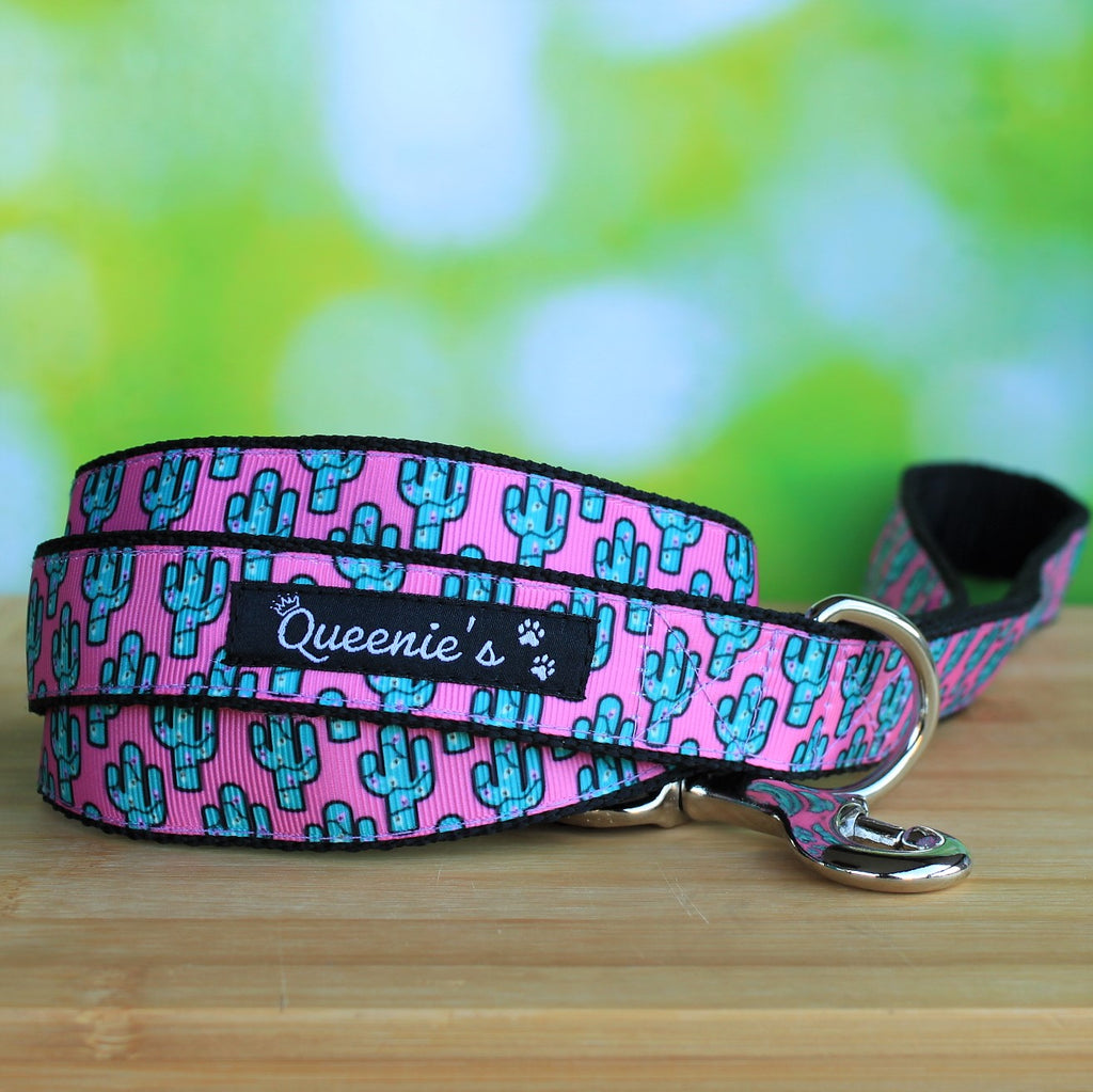 "Dog Leash ""Cacti"" - Queenie's Pawprints"
