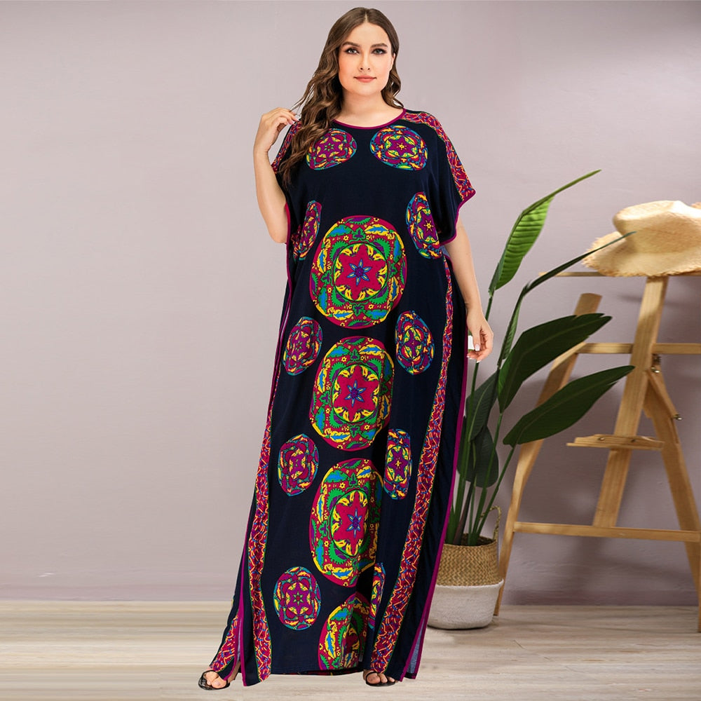 Multi Print Maxi - Plus Size