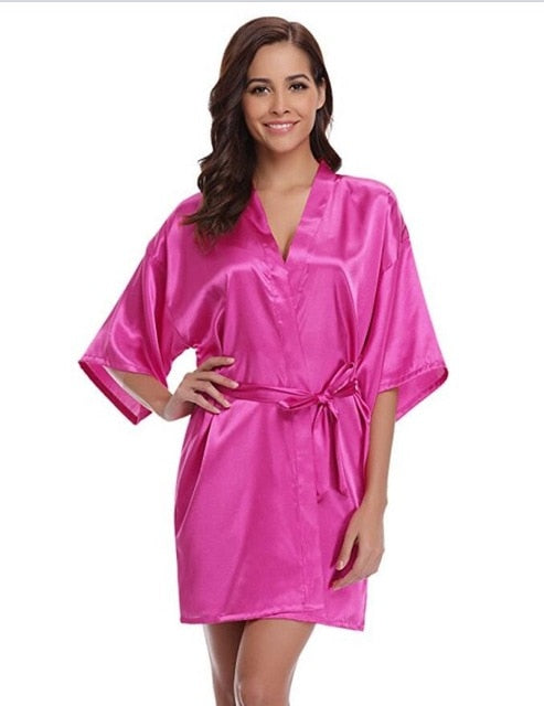 Faux Silk Bridesmaid and Dressing Robes