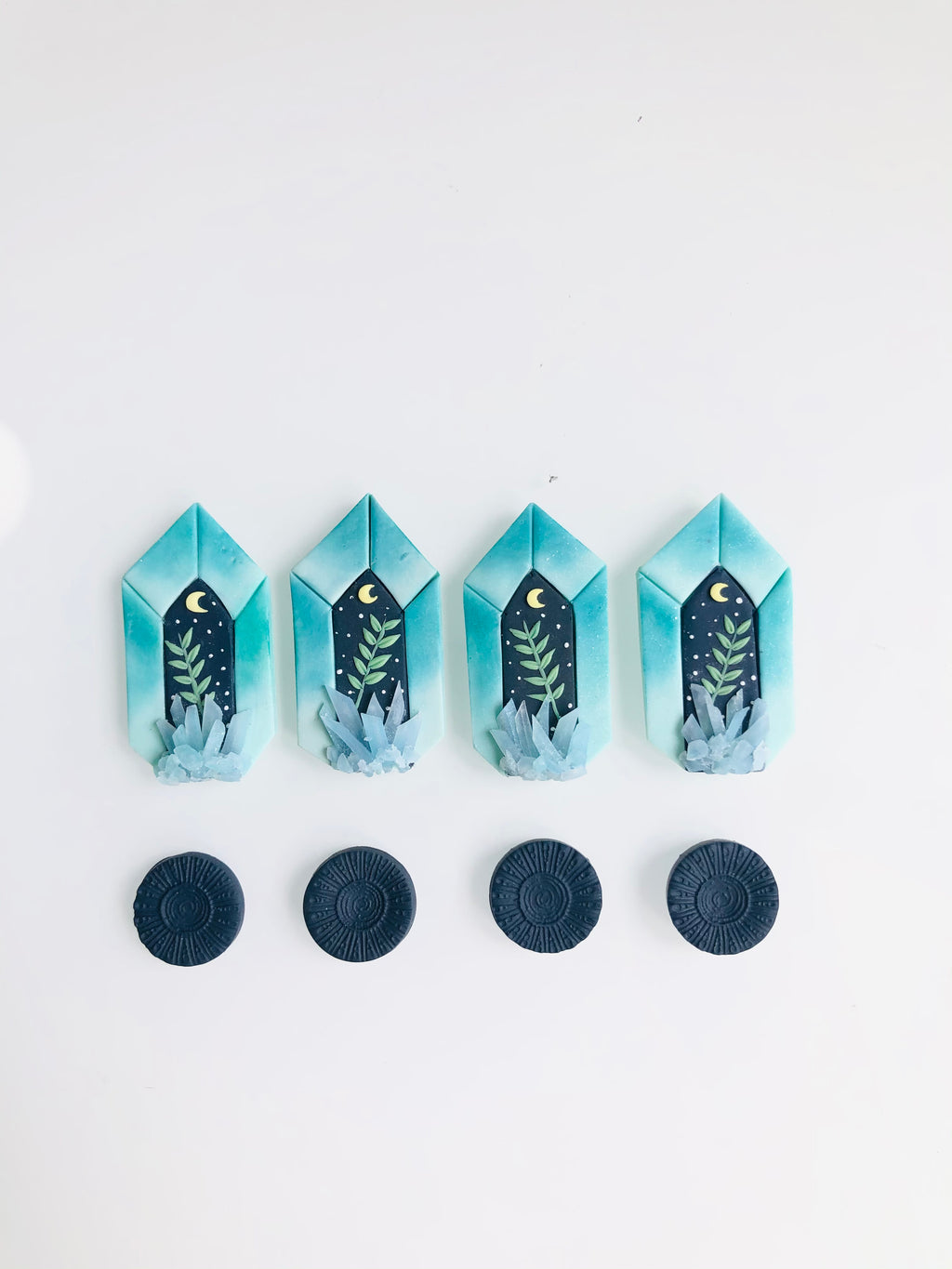 Crystal studs pack (turquoise)