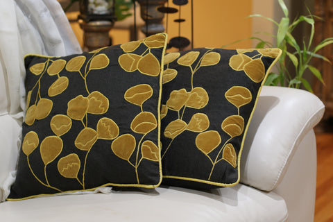 Pillow Cover - Set of two mustard