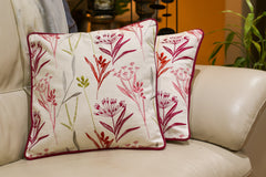 Pillow Cover - Set of Two floral embroidery