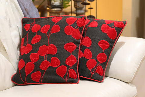 Pillow Cover - Set of two red and black