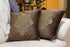 Pillow Cover - Set of two brown suede