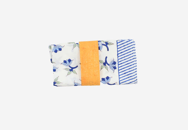 Tea Towel blue all over flowers