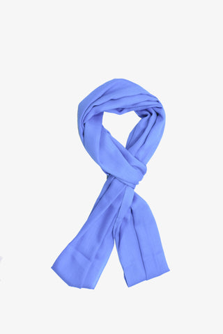 Cashmere Solid Blue Scarf