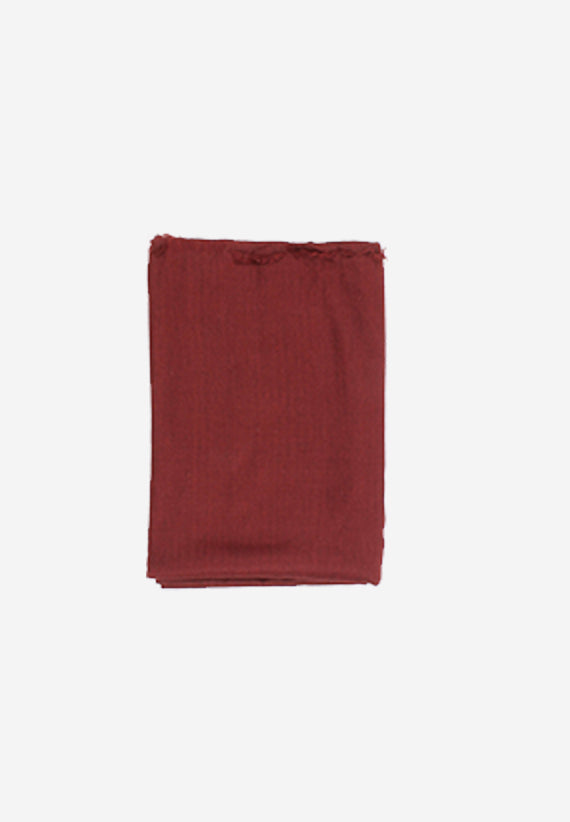 Wool Plain Burgandy