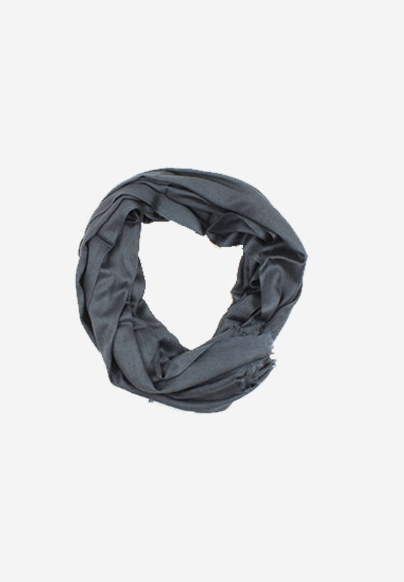 Cashmere charcoal grey scarf