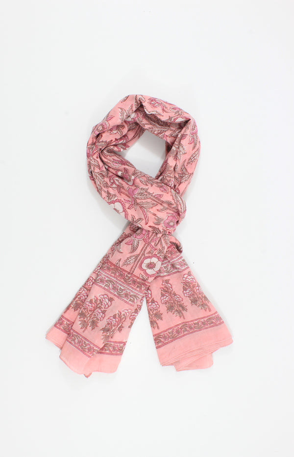 Pink Handmade Block Print Cotton-New