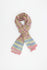 Beautiful cotton scarf on a light pink base with a  blue floral pattern.