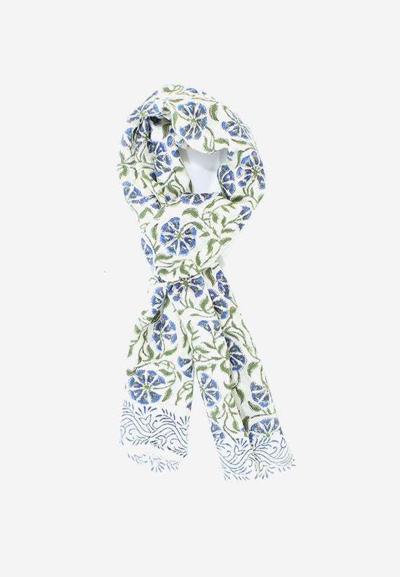 Cashmere Hand made Floral Motif Scarf