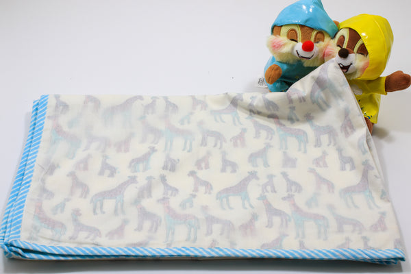 Hand block Giraffe Print Baby Blanket in Cotton