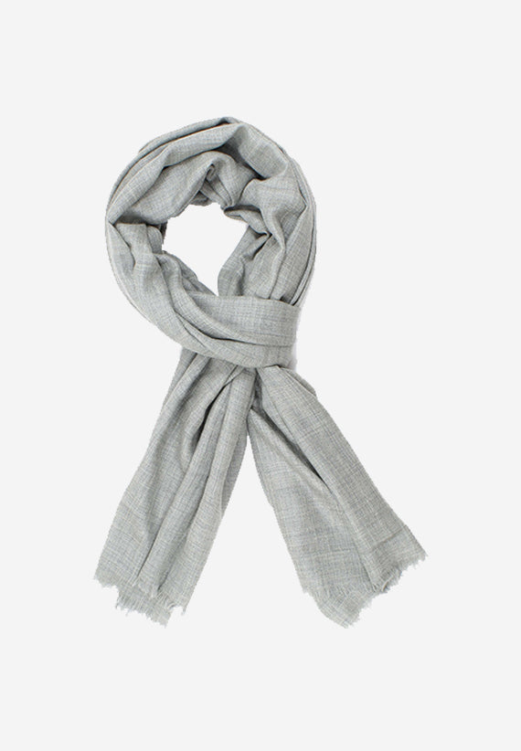 Lightweight Warm Cashmere Scarf in light Grey