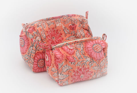 Pouches set of two - Peach