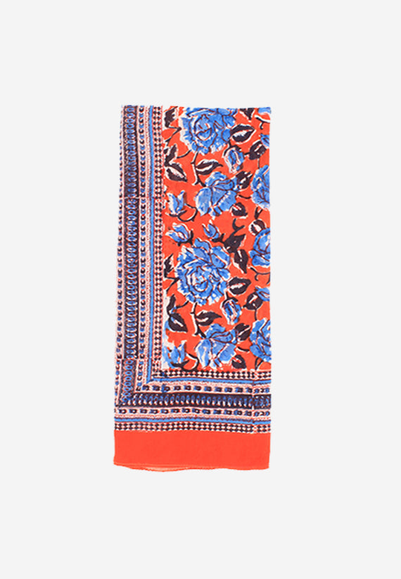 Red Handmade Block Print Cotton