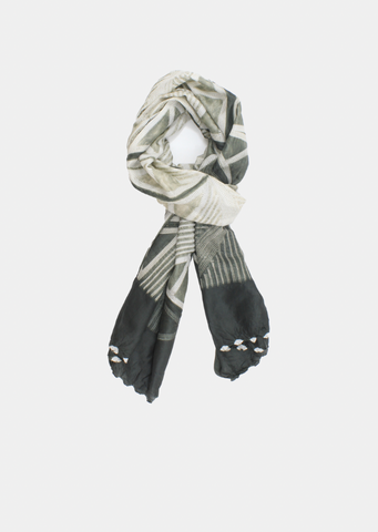 Silk  Shibori  Grey New