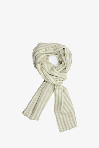 Striped Beige Cashmere Scarf