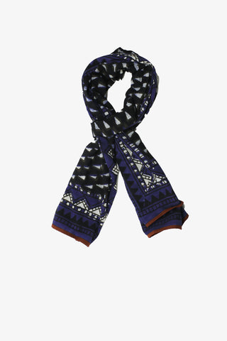 Cotton Indigo hand block scarf
