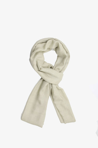 Cashmere Solid Beige Scarf