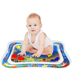 Water Play Mat Baby Inflatable Baby Tummy Time Water Pad Free-bpa Leakproof For Baby Gear