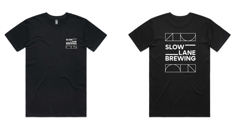 Slow Lane Geometric Tee - Black or White