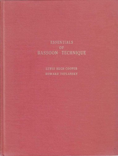 Essentials Of Bassoon Technique