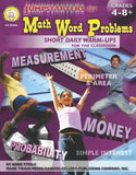 Jumpstarters For Math Word Problems, Grades 4 - 12