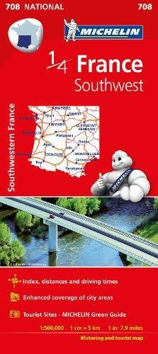 Southwestern France - Michelin National Map 708 (Michelin National Maps)