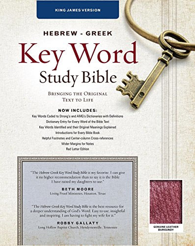 The Hebrew-Greek Key Word Study Bible: Kjv Edition, Burgundy Genuine (Key Word Study Bibles)