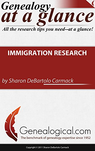Genealogy At A Glance: Immigration Research