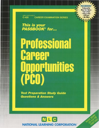Professional Career Opportunities (Pco) (Passbooks)