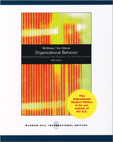 Organizational Behavior: Emerging Knowledge And Practice For The Real World, 5Th Edition