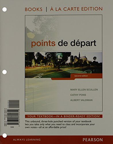 Points De Depart, Books A La Carte Plus Mylab French With Etext (Multi Semester Access) -- Access Card Package (2Nd Edition)