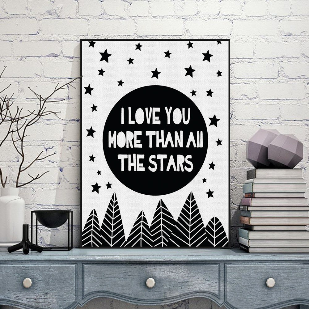 I Love You More Than The Stars Print | Free Shipping Over $50