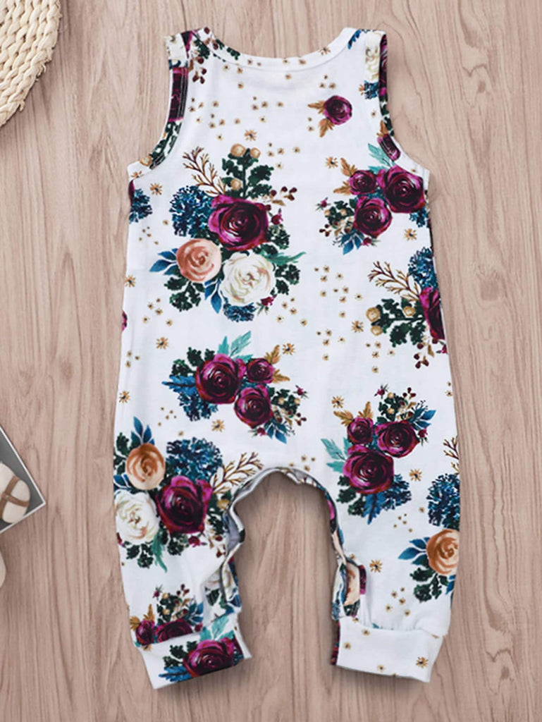 White Floral Print Jumpsuit | Free Shipping Over $50