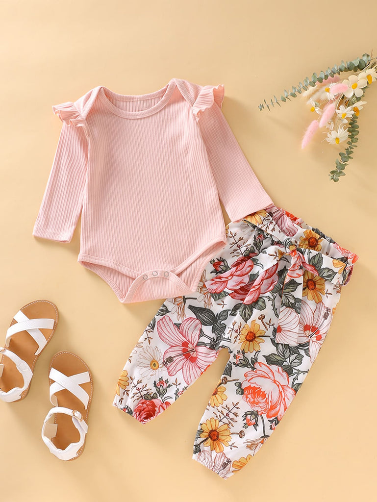 Ruffle Shirt and Floral Pants | Free Shipping Over $50