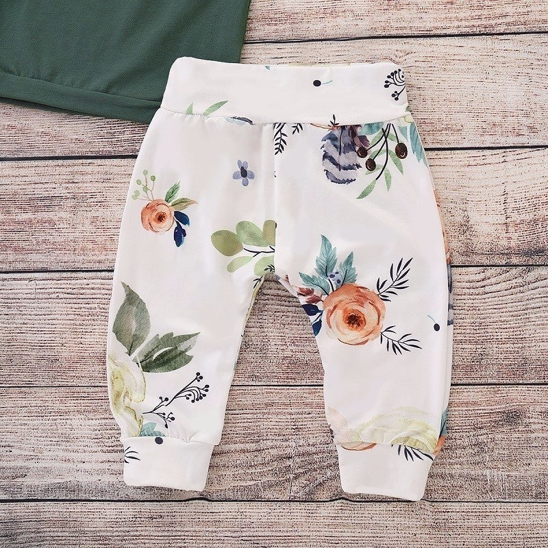 Ruffle Shirt & Floral Pant Set | Free Shipping Over $50