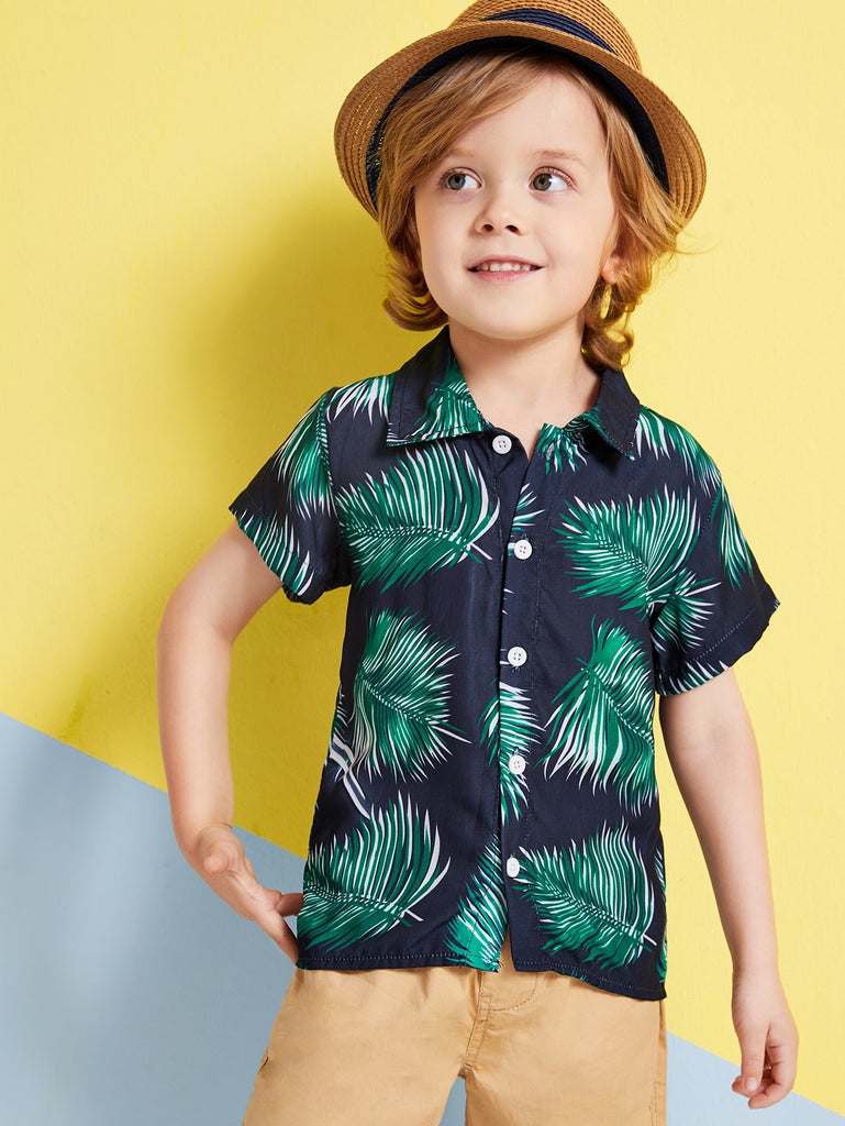 Toddler Boys Tropical Print Shirt | Free Shipping Over $50
