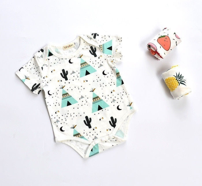 Pineapple & Tee Pee Onesies | Free Shipping Over $50