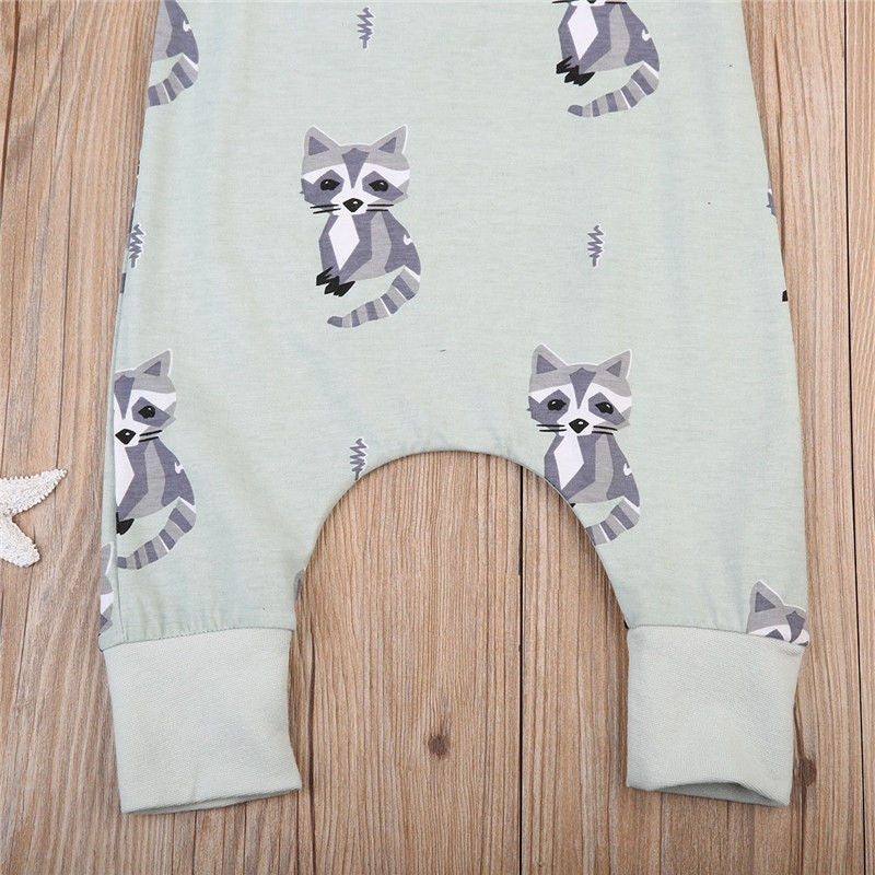 Raccoon Romper | Free Shipping Over $50