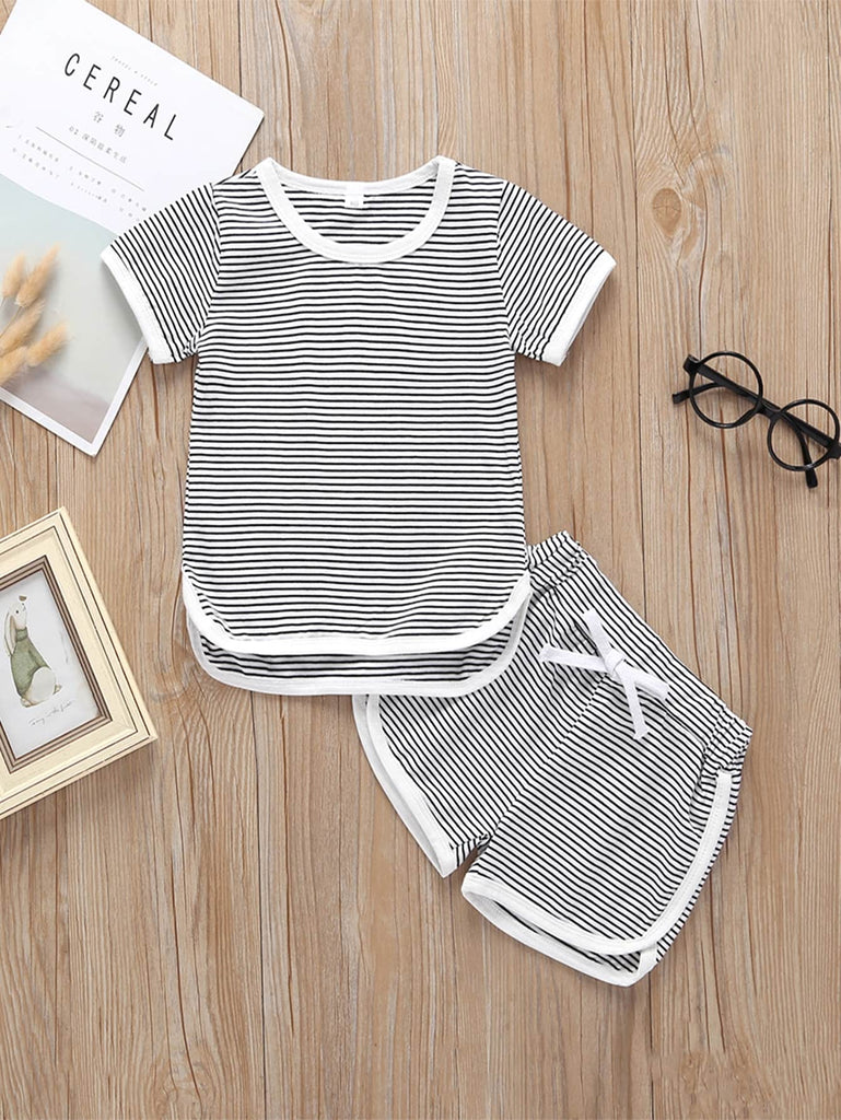 Striped Shirt & Short Set | Free Shipping Over $50