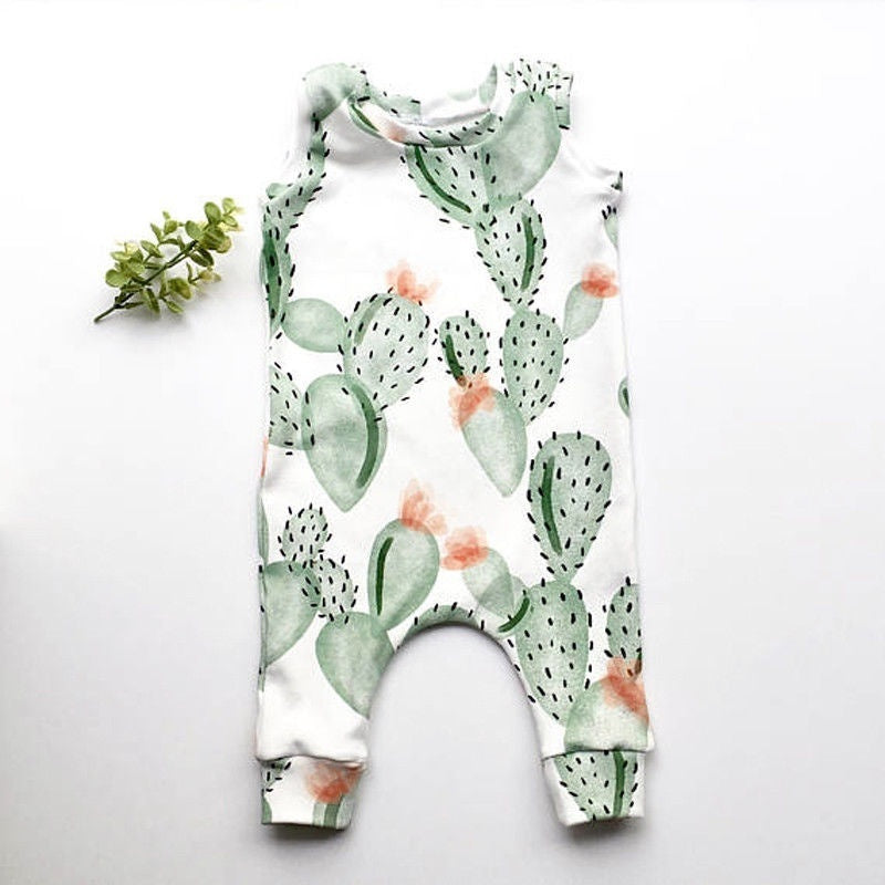Watercolor Cactus Romper | Free Shipping Over $50