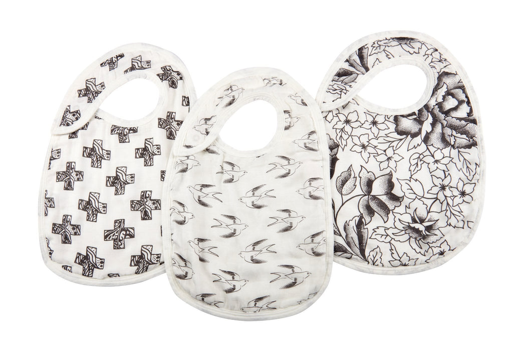 Black & White Snap Bibs