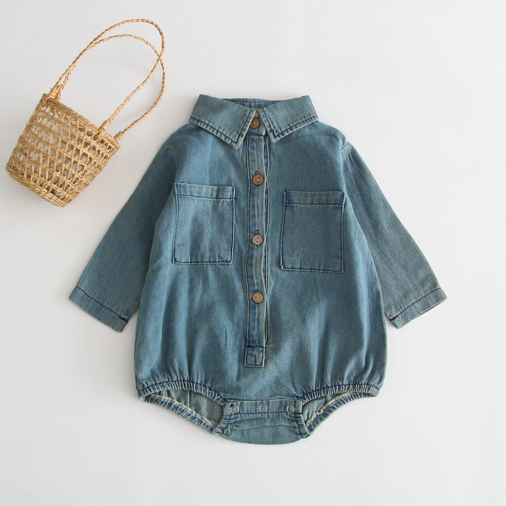 Long Sleeve Denim Romper | Free Shipping Over $50