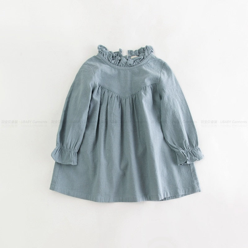 Linen Ruffle Dress | Free Shipping Over $50